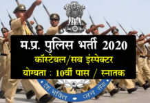 Mp Police Recruitment 2020